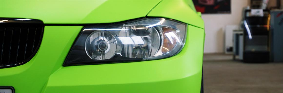 BMW E91 Toxic Green Matt