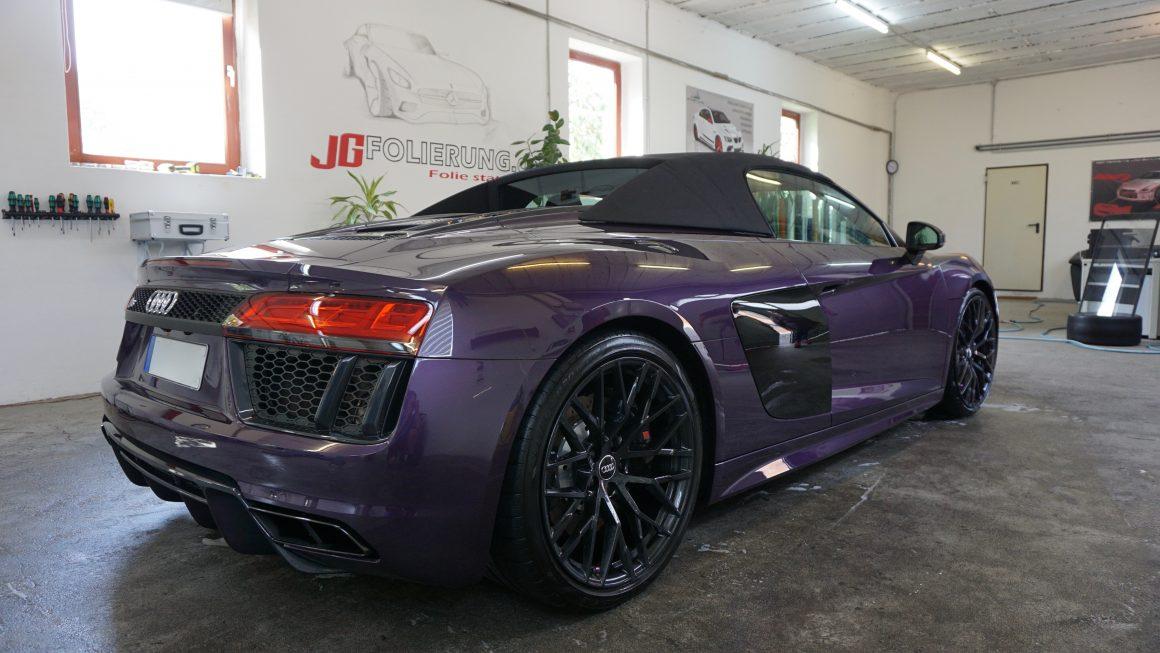 Nano Lackversiegelung, Lackaufbereitung, Steinschlagschutz. Audi R8 Spyder